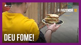 A Fazenda 12 – Biel prepara sanduíche para JP – Peões imaginam memes