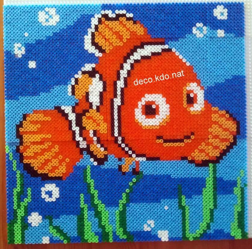 Deco kdo nat perles hama tableau n mo for Deco 3d gratuit