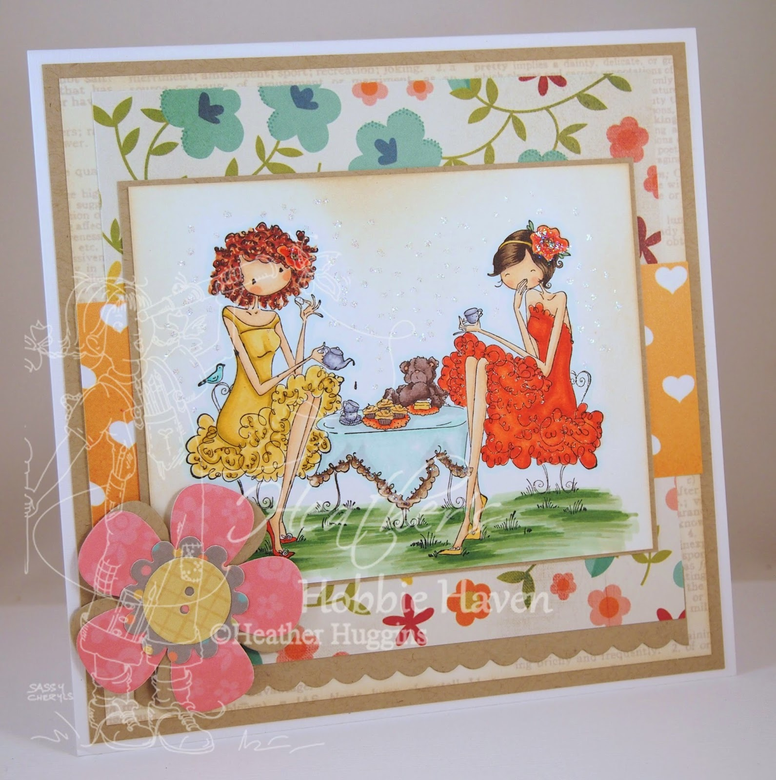 Heather's Hobbie Haven - Paige & Peggy Pour Some Tea Card Kit