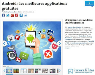 50 applications Android incontournables