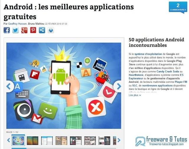 Le site du jour : 50 applications Android incontournables