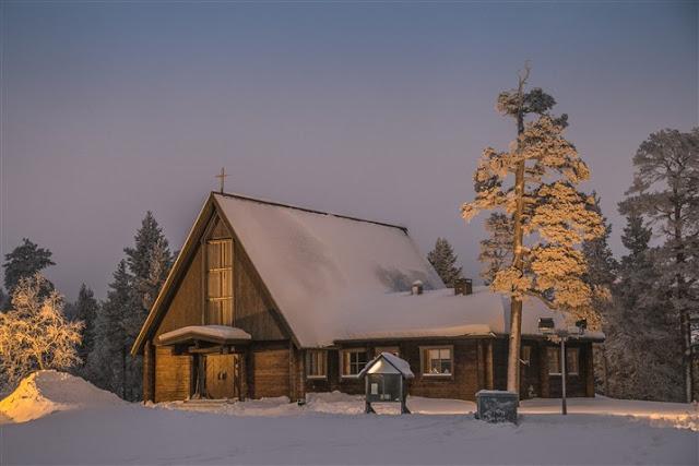 church saariselka lapland finland