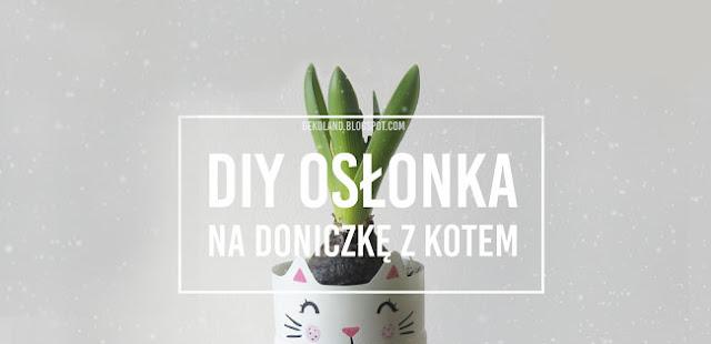 DIY: Osłonka na doniczkę z butelki