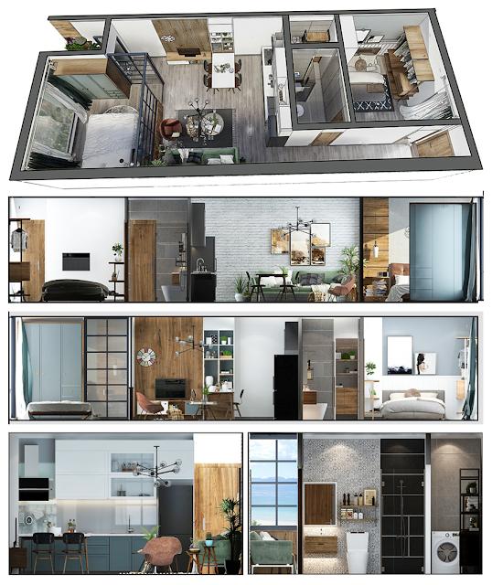 Phối cảnh thiết kế dự án căn hộ chung cư Napoleon Castle Nha Trang
