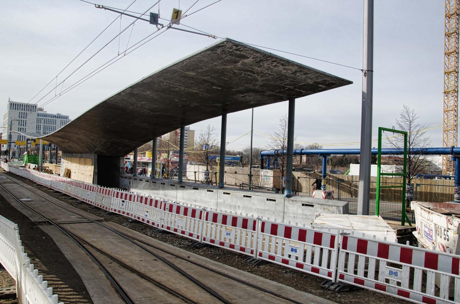 Baustelle Tram-Station am Hauptbahnhof, M6, M8, M10, Invalidenstraße 53, 10557 Berlin, 24.02.2015