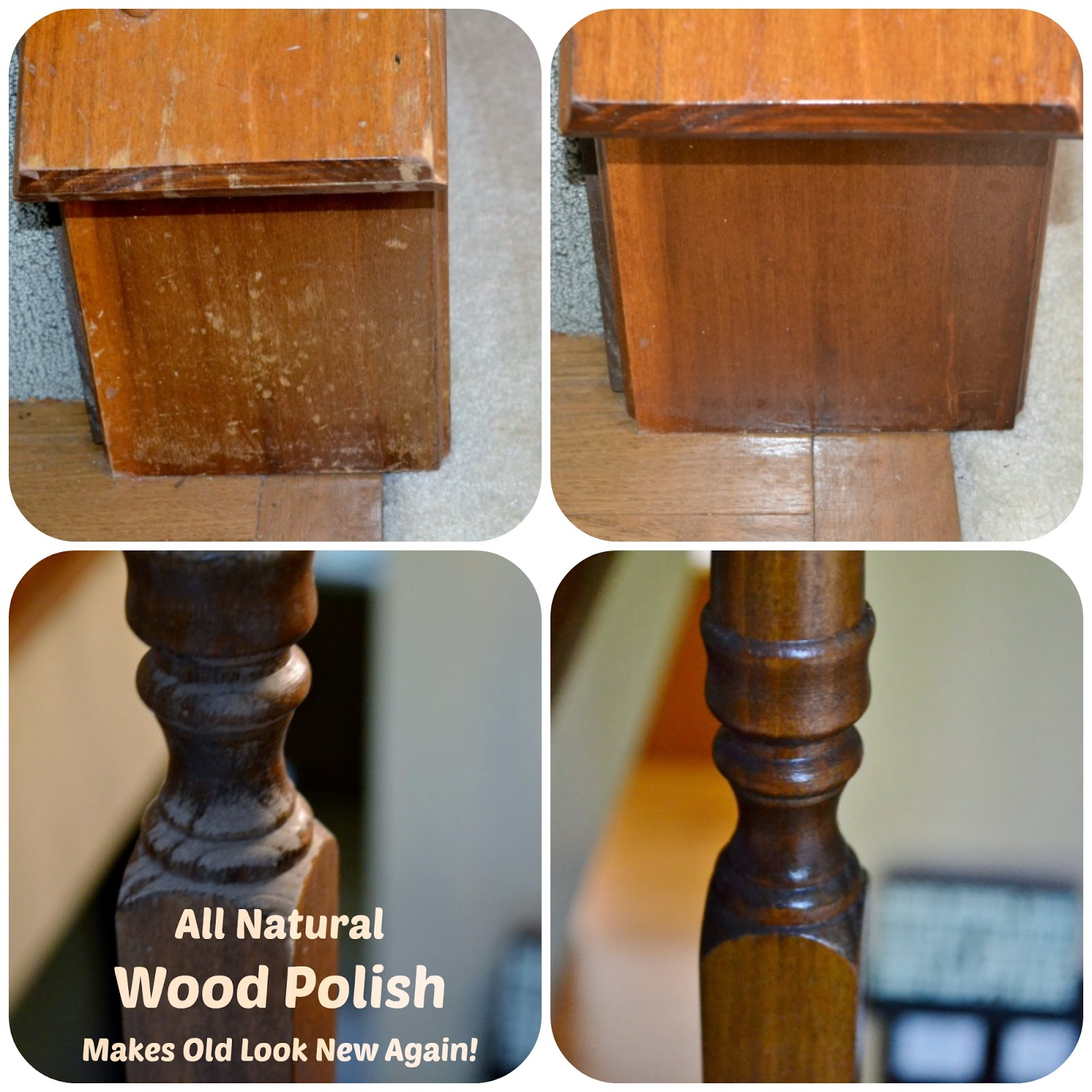 I Have Seen A Few Places On The Internet How You Can Make Old Wood Furniture Look New By Using Homemade Polish Wanted To Try It Our Baseboards