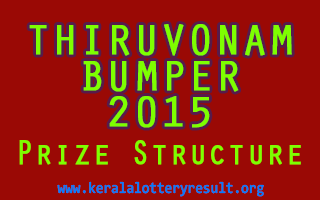 Thiruvonam Bumper 2015 BR-45 Lottery Prize Structure