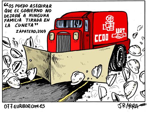 Zapatero UGT CCOO quitanieves comic