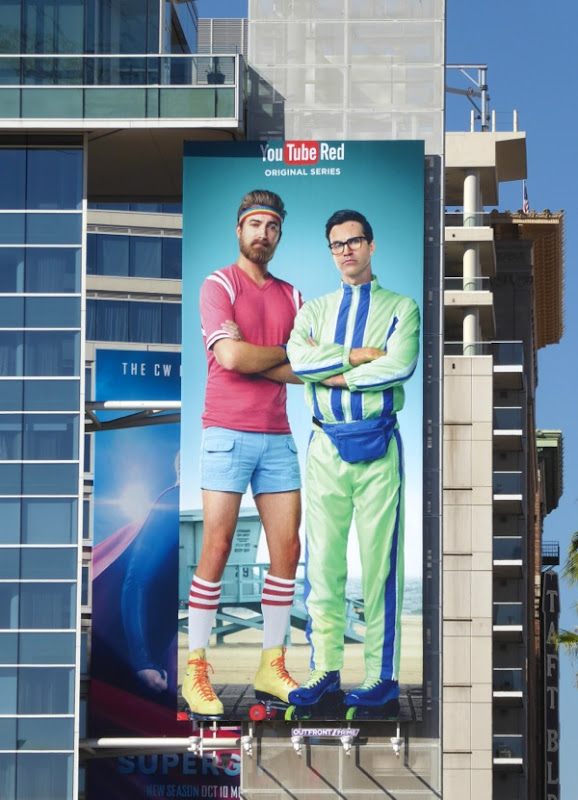 Rhett Link Buddy System YouTube Red billboard