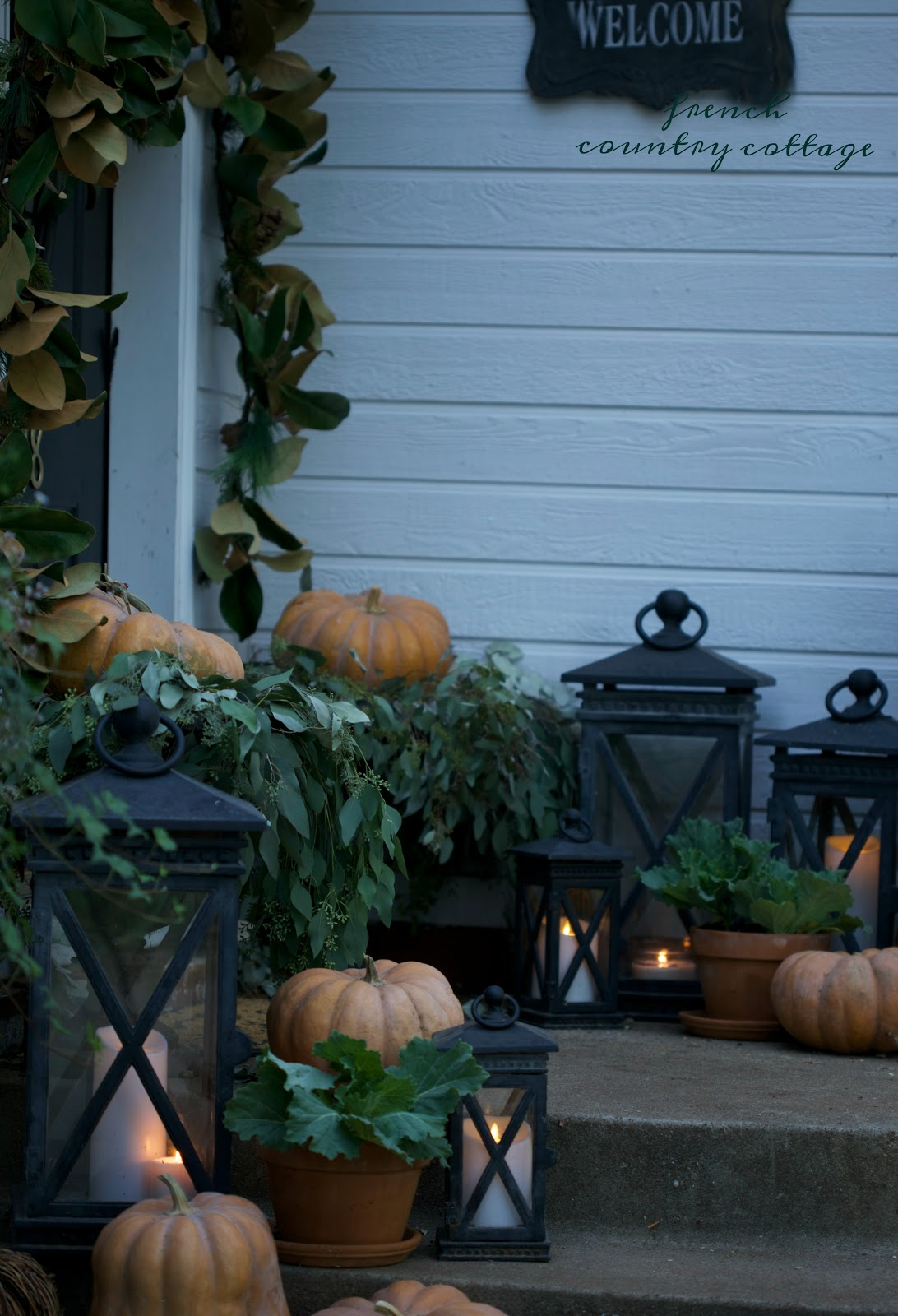 French Country Friday Autumn Porch French Country Cottage