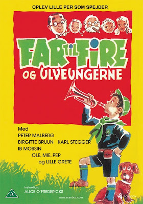 Far til fire og ulveungerne / Father of Four and the Wolf Cubs. 1958.