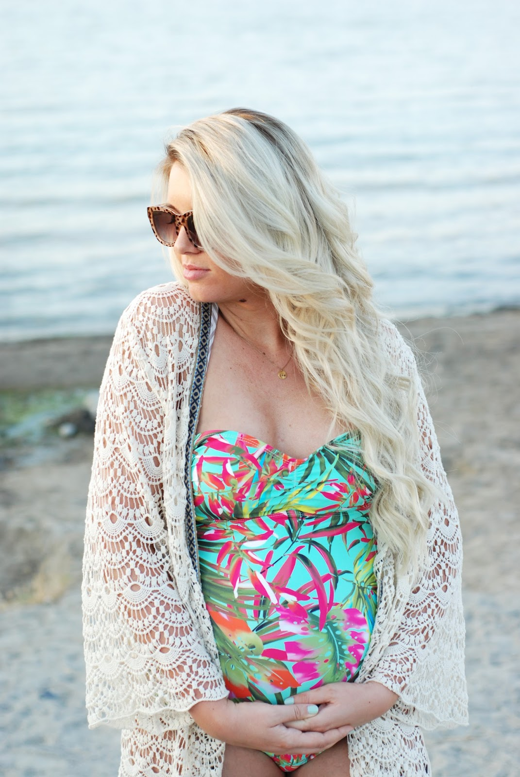 Siloe Boutique, Tropical Swimming Suit, Modest