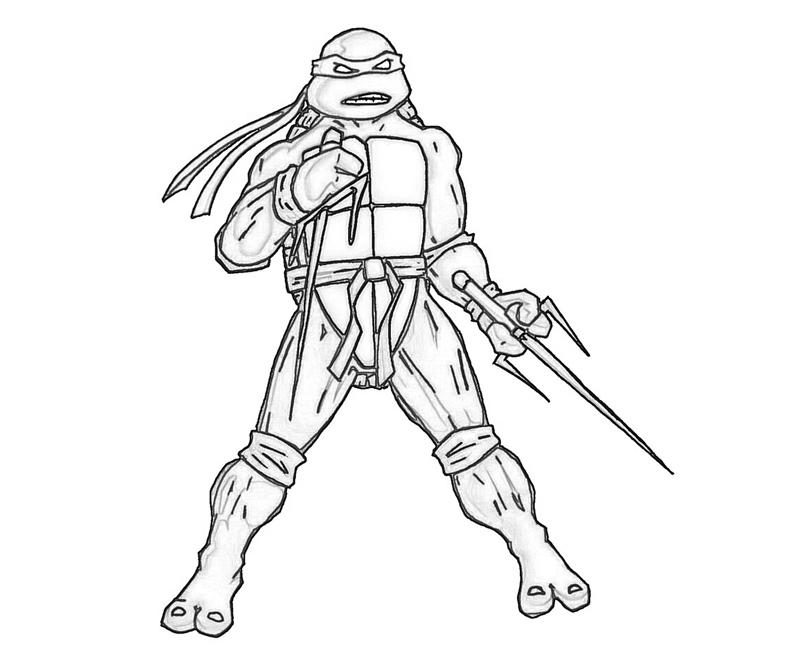 ninja turtles raphael coloring pages - photo#19
