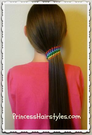 Waterfall Twist With Ribbon Ponytail