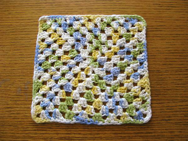 Crochet Granny Square Dishcloth Pattern : Miss Abigails Hope Chest: Crocheted Dishcloths
