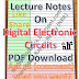 Digital Electronic Circuits Notes PDF Download