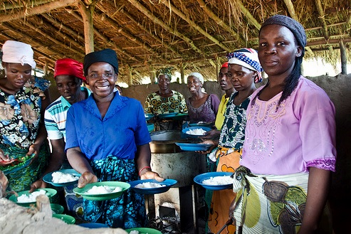 Cooking for the community in Africa
