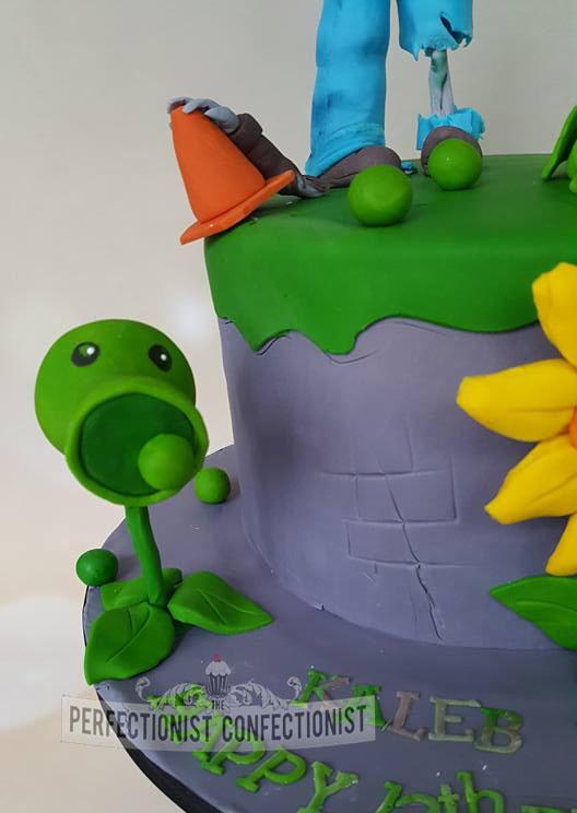 The Perfectionist Confectionist Kaleb Plants Vs Zombies Birthday Cake