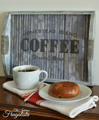 Umbra Photo Tray repurposed into Coffee Serving Tray