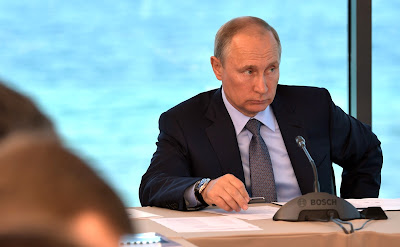 President Putin at a meeting on development of Baikal natural area.