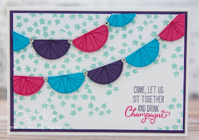 Balloon Celebration Bunting Invitation Card - buy the supplies here in the UK
