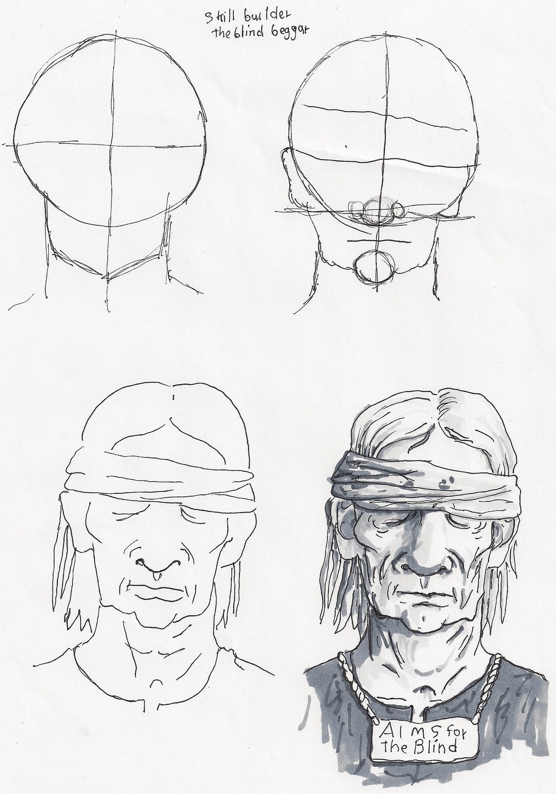 Adron S Art Lesson Plans How To Draw The Blind Beggar An