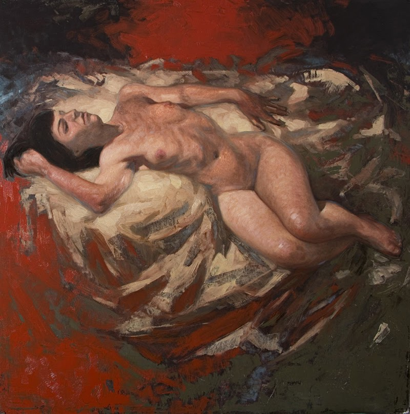 Figurative Paintings by Olivier Payeur from France.