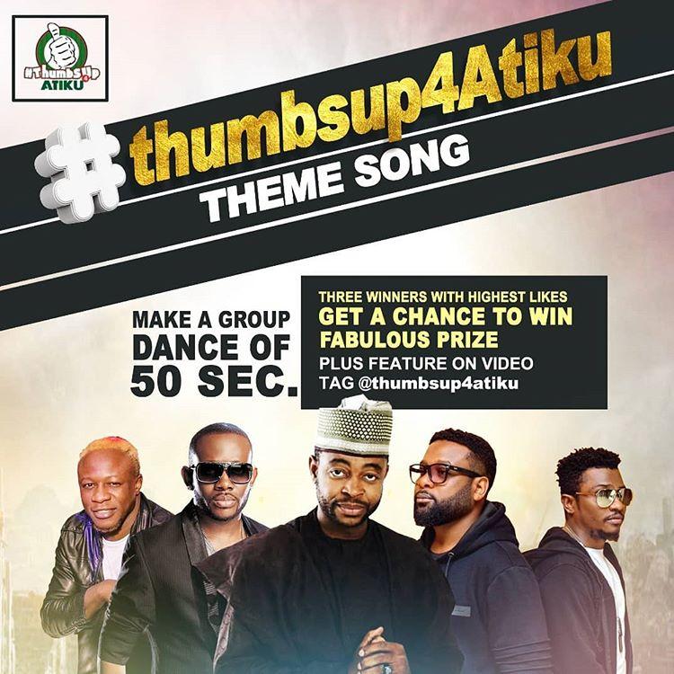MUSIC: sani Danja x style plus, x J.Martins & chuddy k - Thumbs up Atiku (Theme song)