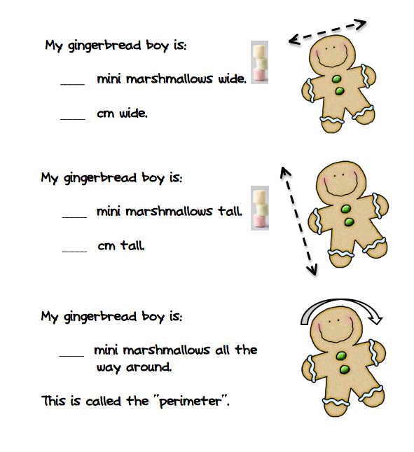 Gingerbread math activities. Addition and measurement. Also a cute poem. All free! GradeONEderful.com