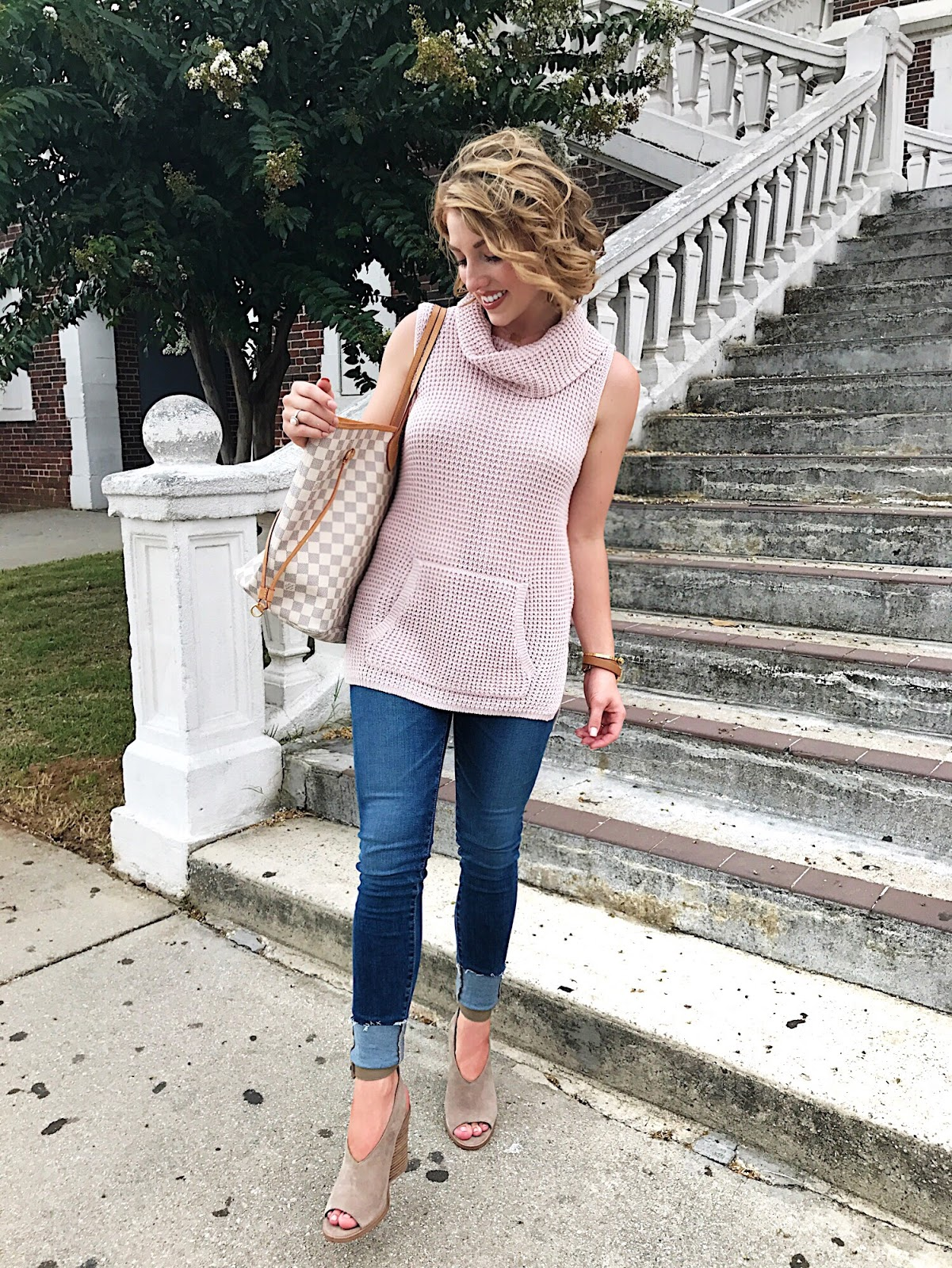 Sleeveless Sweater - Click through to see more on Something Delightful Blog.