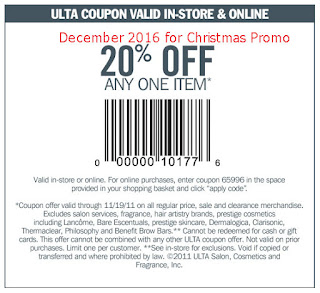 Ulta coupons december 2016