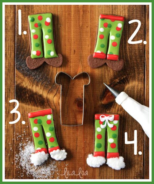 Decorated sugar cookies that look like pajama pants  -- tutorial