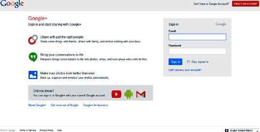 social networking sites google plus