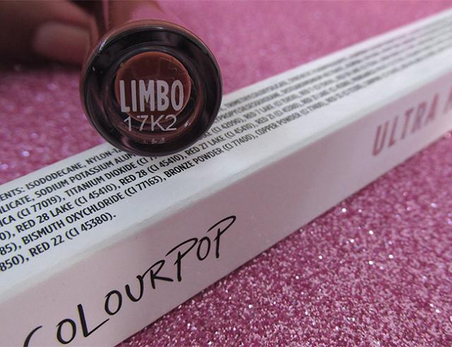 Capa: batom Limbo (Colourpop)
