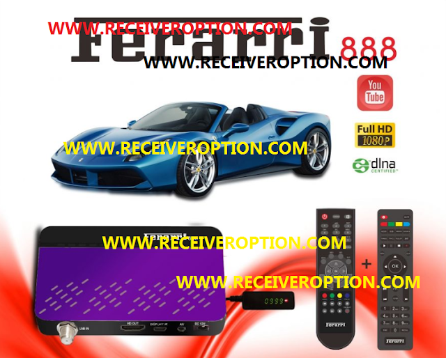 FERARRI 888 HD RECEIVER POWERVU KEY SOFTWARE UPDATE