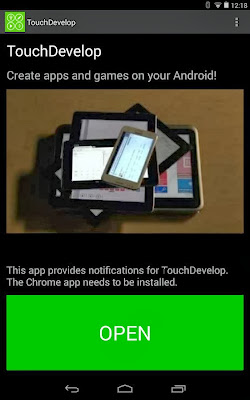 TouchDevelop for Android phones and Tablets