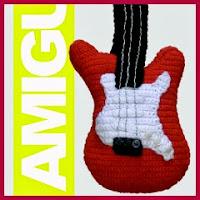 Guitarra eléctrica amigurumi