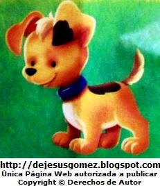 Dibujo de perro a color para niños. Perro tomado por Jesus Gómez