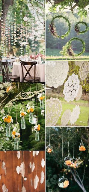 Decoraciones colgantes - Foto: www.elegantweddinginvites.com