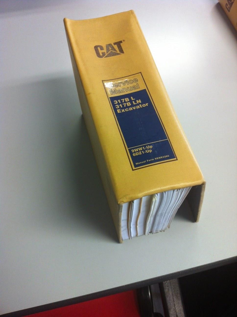 CATERPILLAR CAT 317BL 317BLN EXCAVATOR SERVICE MANUAL #674