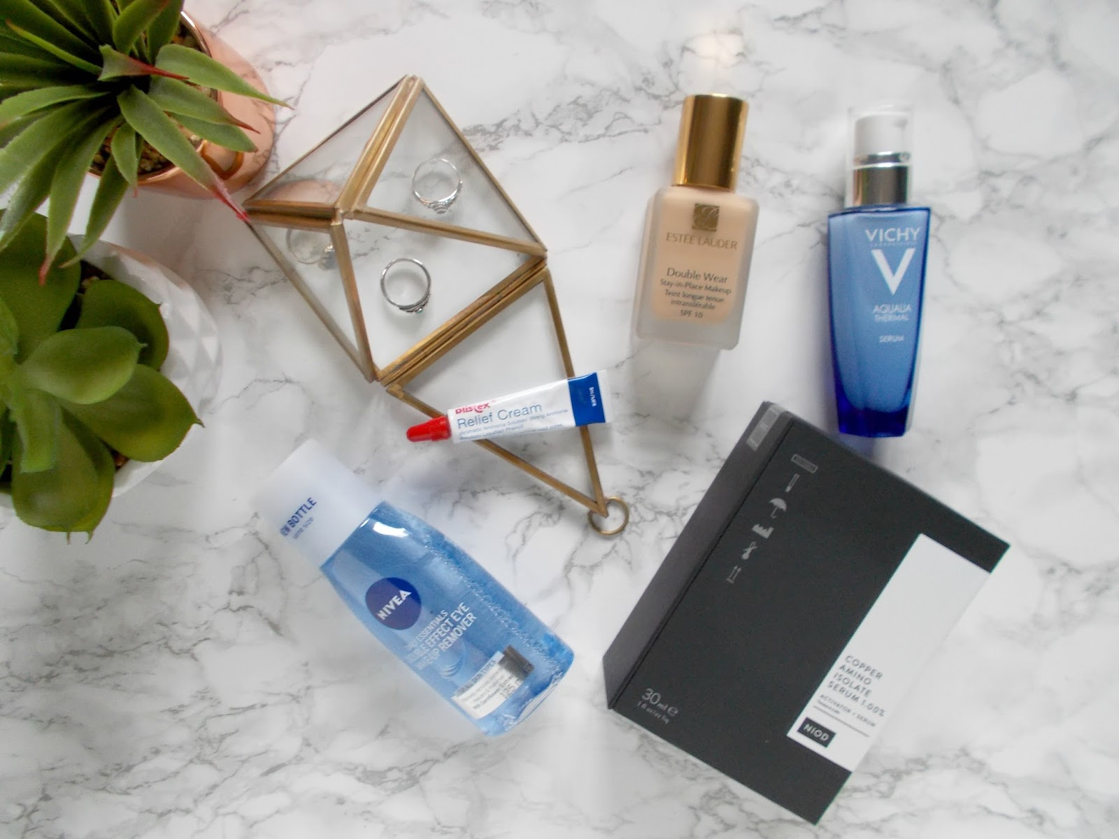 forever repurchased nivea eye makeup remover vichy aqualia thermal serum estee lauder double wear blistex relief cream niod copper amino isolate serum review