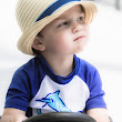 Little guy learning to drive!