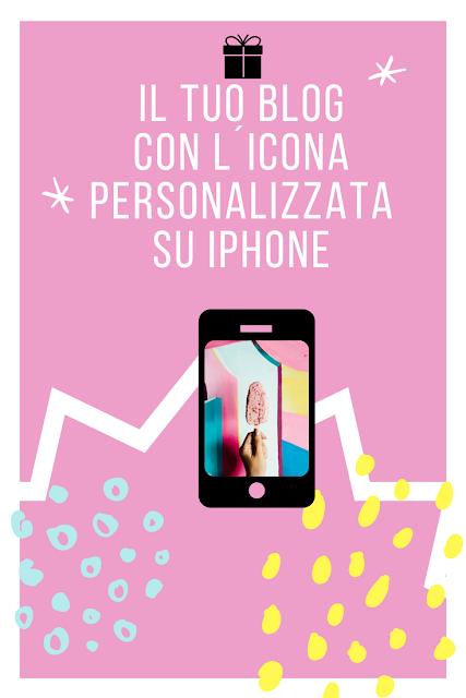 Il tuo blog con l´icona personalizzata su Iphone