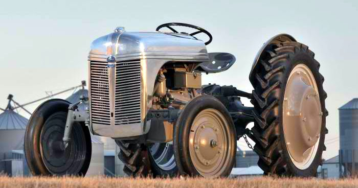Just A Car Guy: Rare Aluminum Ford 9n Tractor Parts Were