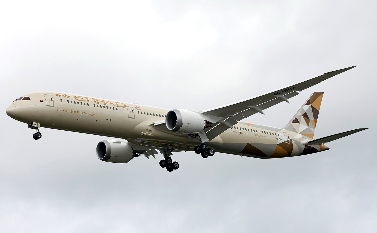 Etihad Boeing 787-10 Approaching To Land
