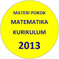Materi Pokok Matematika SMA Kurikulum 2013 Revisi