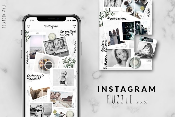 Instagram Grid Template Polaroid Style, A Great Way To Introduce Your Brand To Followers