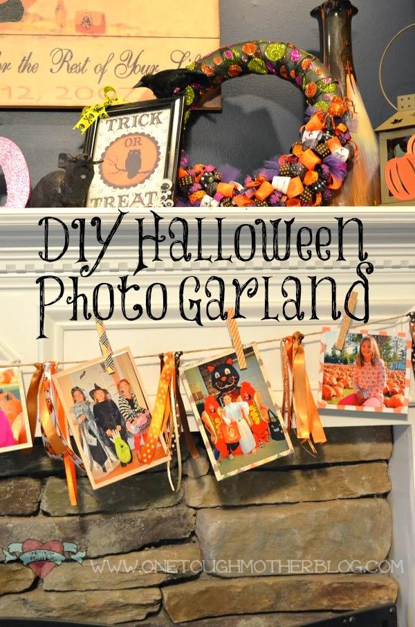 Halloween Photo Garland | www.sweetteaandsavinggraceblog.com
