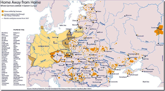 Map German settlers during WW2