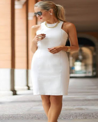 vestido corto formal blanco tumblr